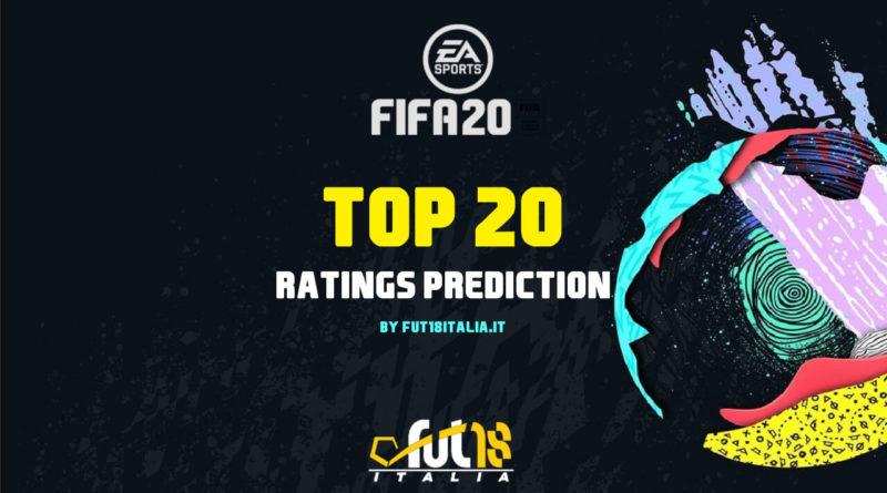 FIFA 20 top 20 ratings prediction