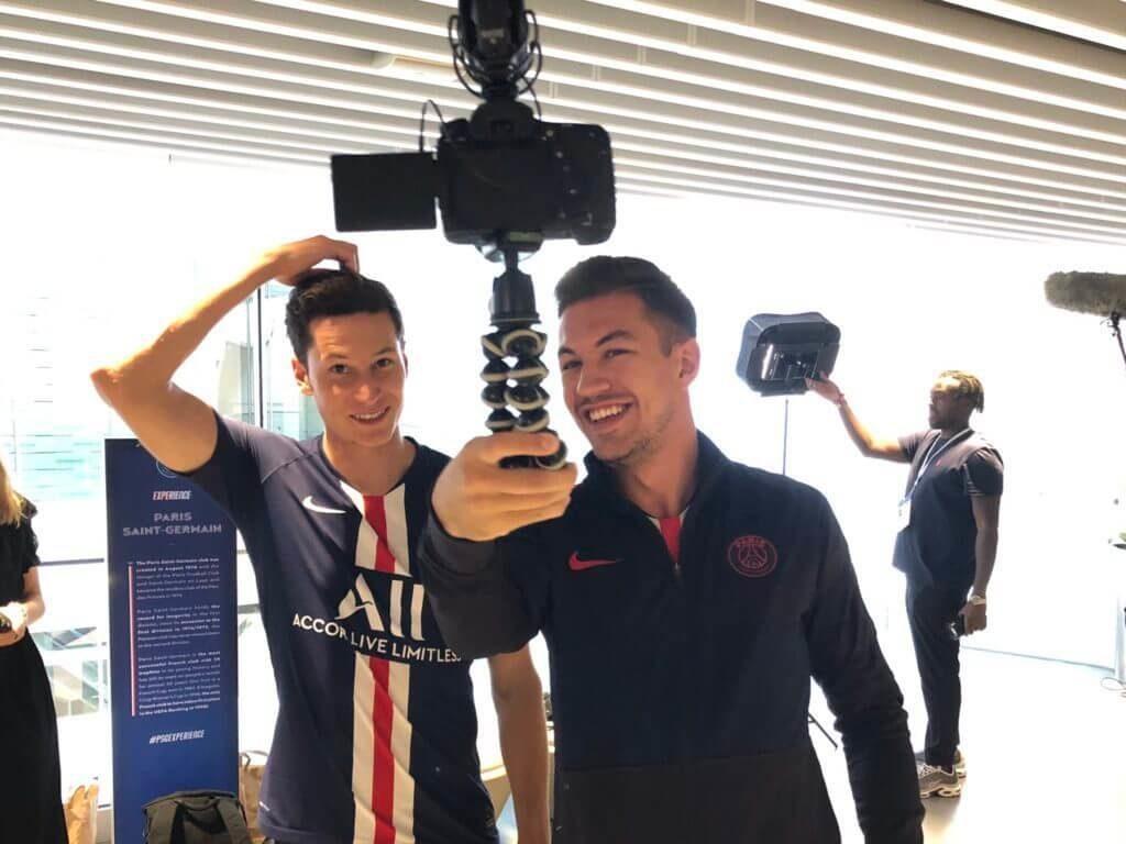 Draxler del PSG durante il face scan per FIFA 20