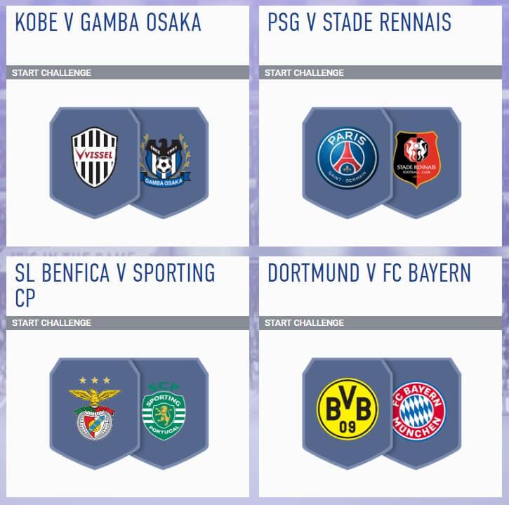 FIFA 19 - SBC incontri principali del 1 agosto