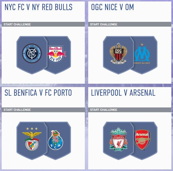 Sfida creazione rosa incontri principali del 22 agosto in FIFA 19
