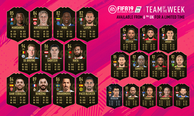 Team of the Week 43 - FIFA 19