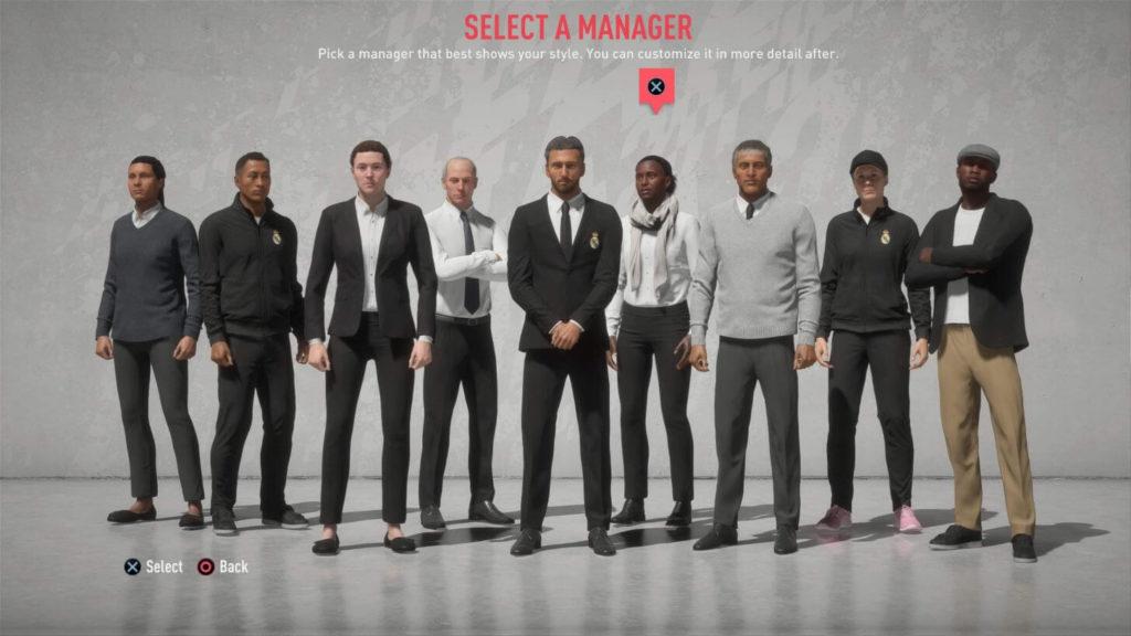 Customizzazione dell'allenatore - FIFA 20 modalità carriera