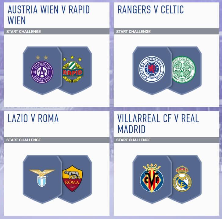 Incontri principali del 29 agosto - FIFA 19