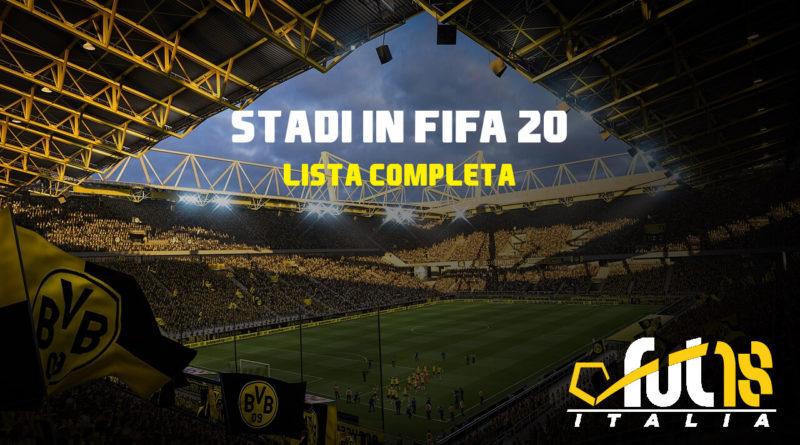 FIFA 20 - Lista completa degli stadi presenti