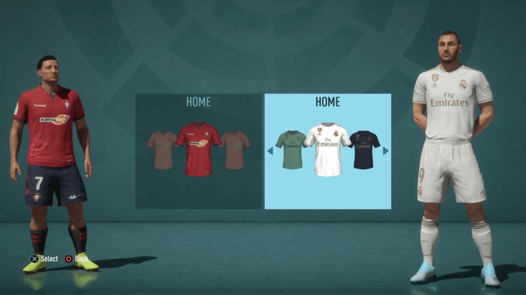 Scelta della divisa - FIFA 20 modalità carriera