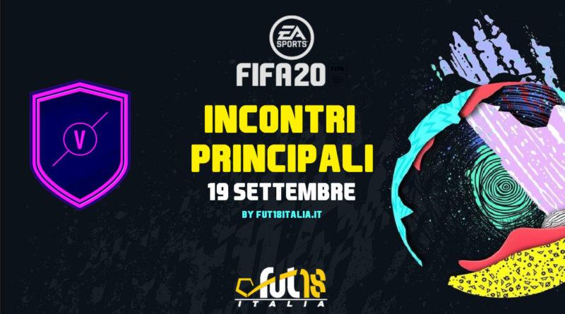 FIFA 20 - sfida creazione rosa del 19 settembre