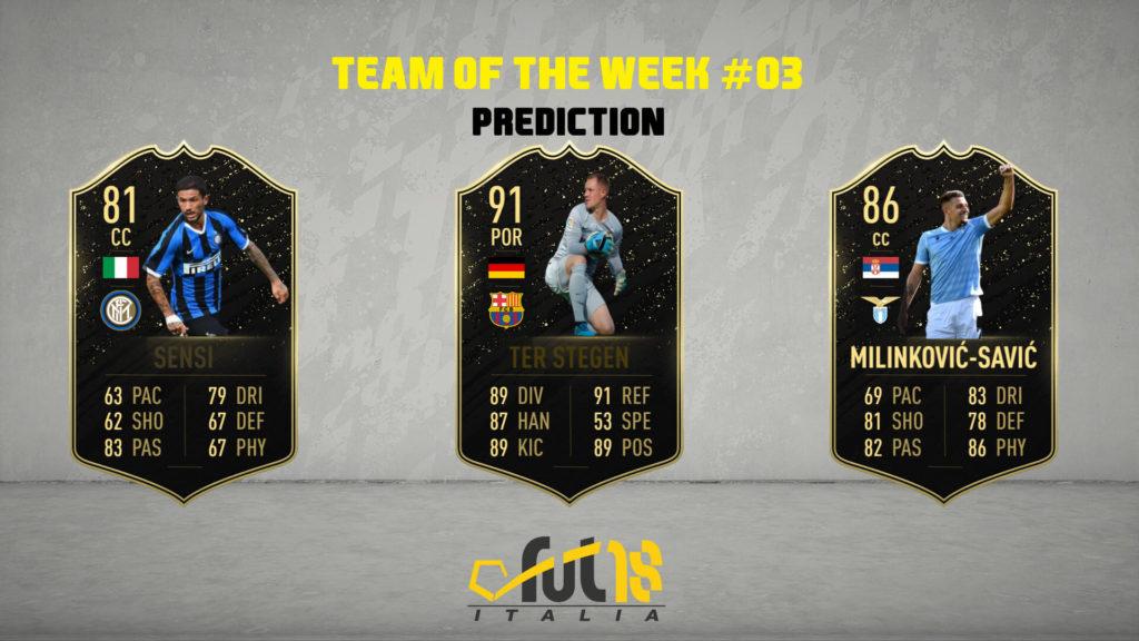 FIFA 20 - TOTW 3 prediction
