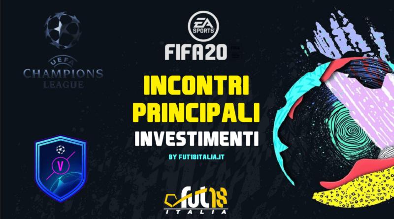 FIFA 20: prediction e investimenti sugli incontri principali UEFA