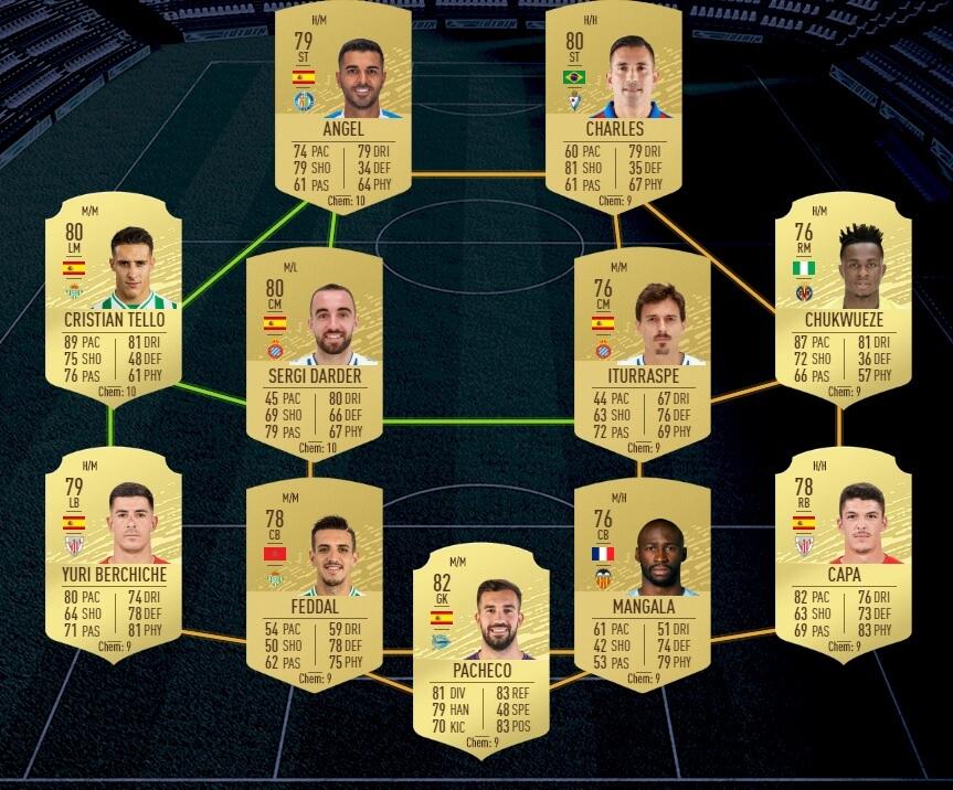 FUT 20: Starter team Liga Santander
