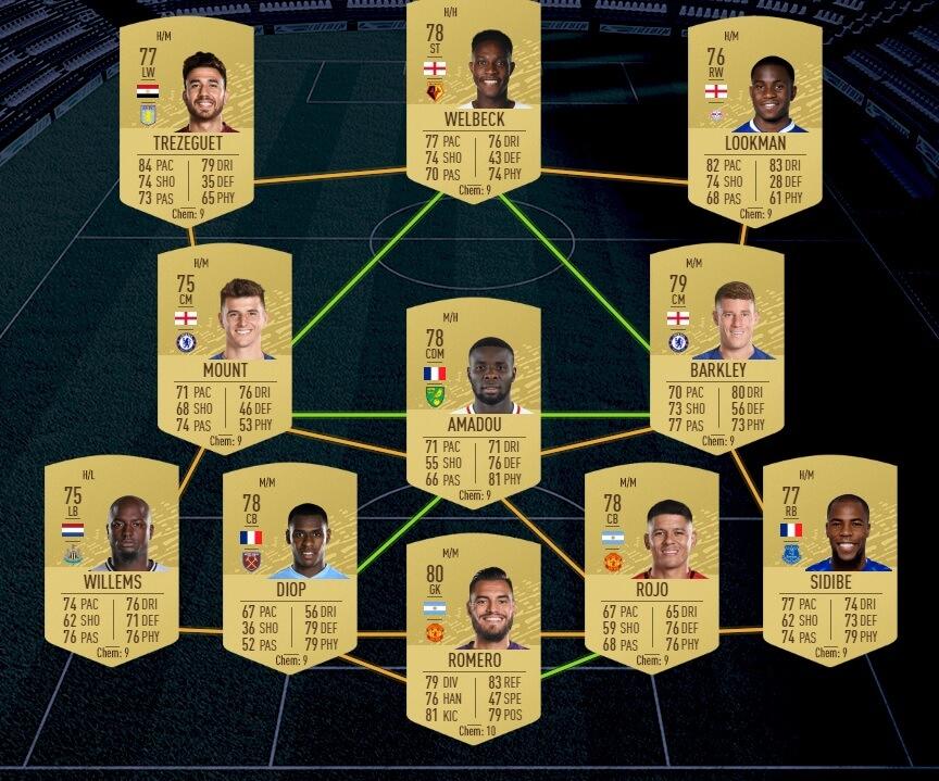 FUT 20: Starter team Premier League