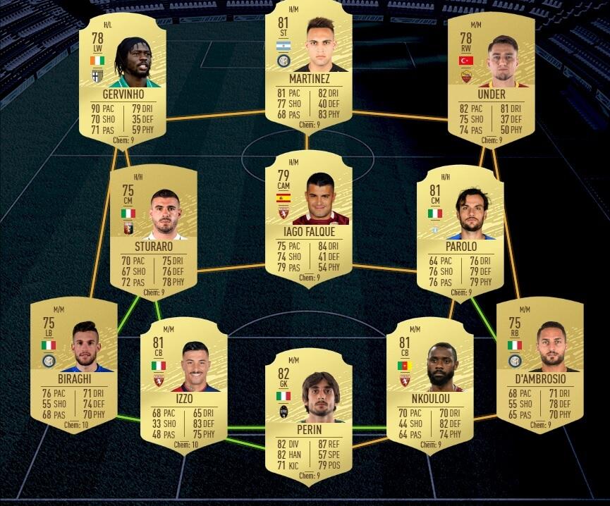 FUT 20: starter team Serie A Tim