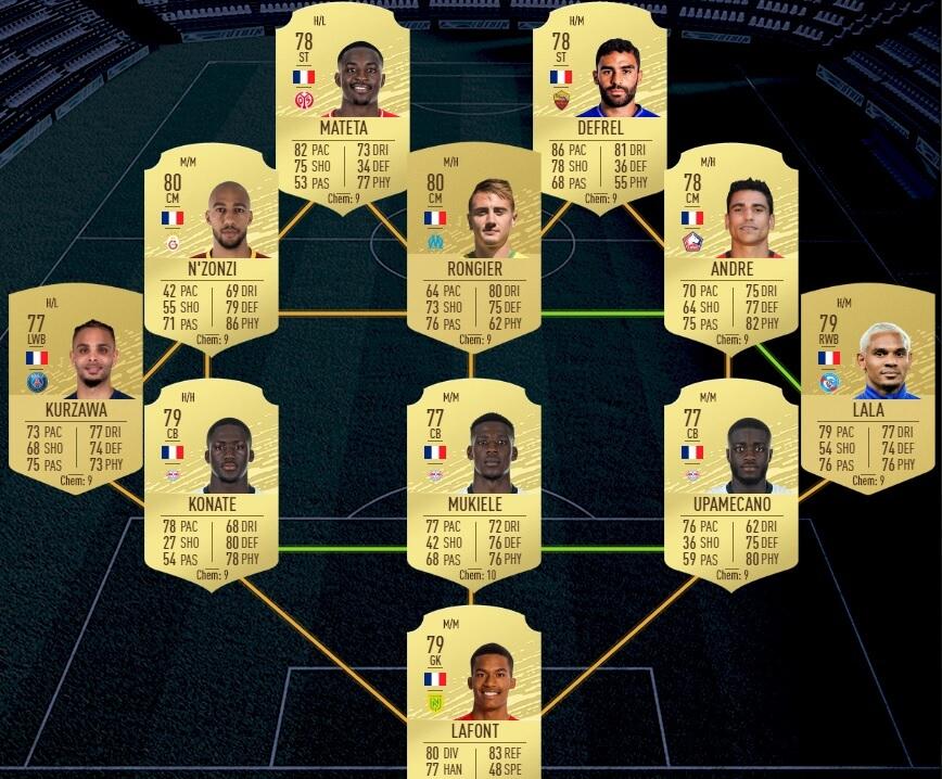 FUT 20: Starter team francese