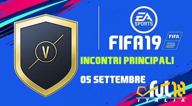 FIFA 19 - SBC incontri principali del 5 settembre