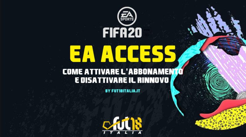 Abbonamento ad EA Access per FIFA 20. Come attivare e disattivare il rinnovo