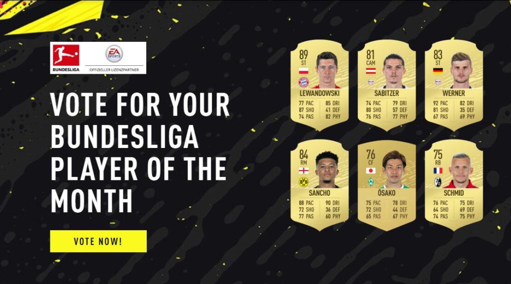 Candidati al POTM di agosto in Bundesliga - FIFA 20