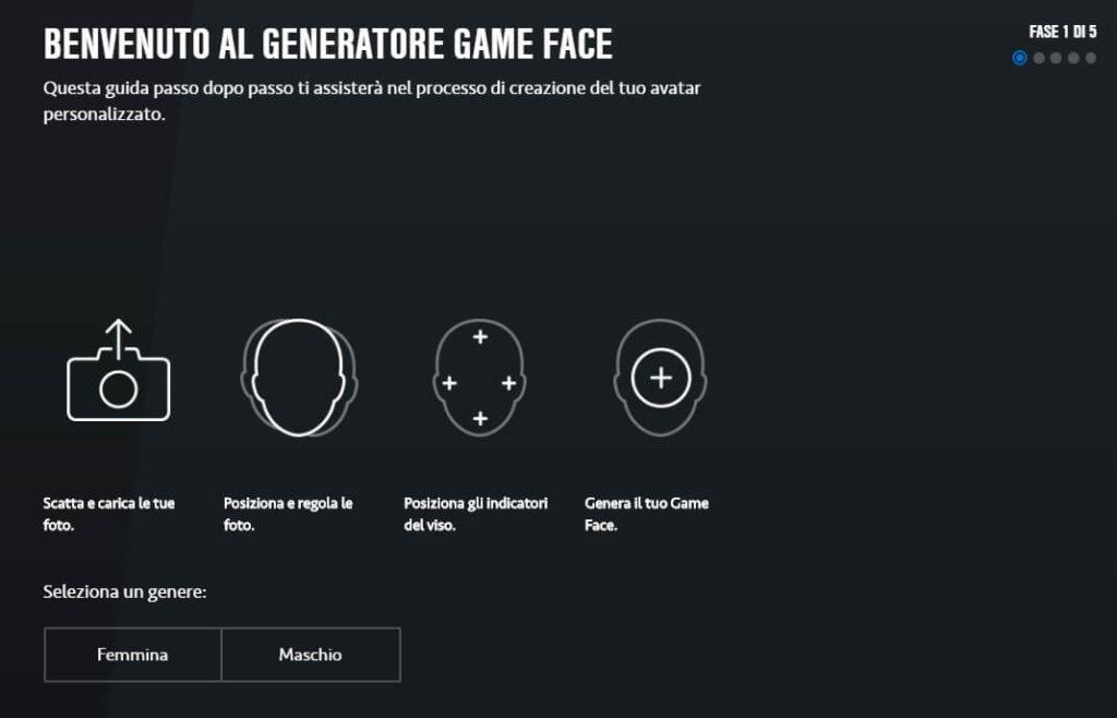 Generatore Game Face su FIFA 20