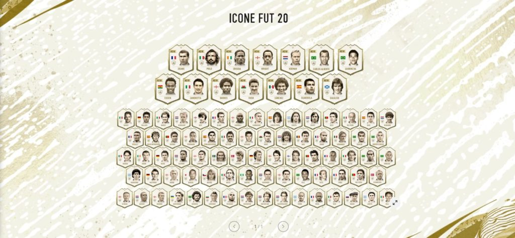 Tutte le icone in FIFA 20 Ultimate Team