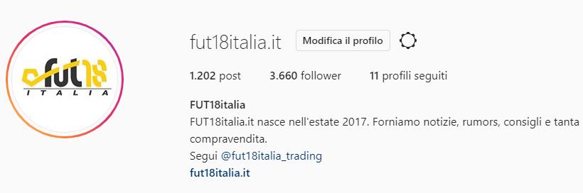 Instagram FUT18italia