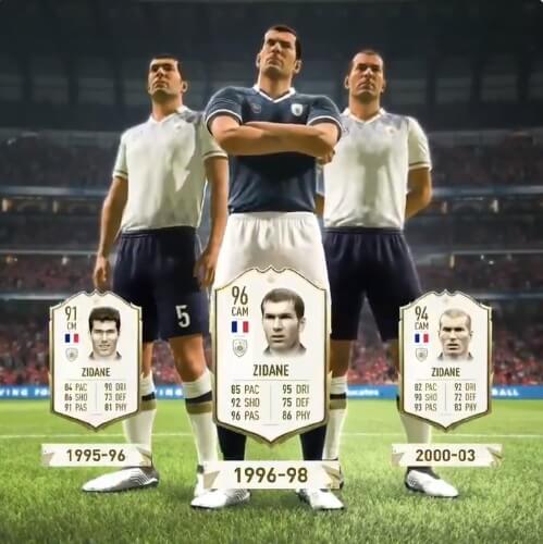Zinedine Zidane Icon stats in FIFA 20