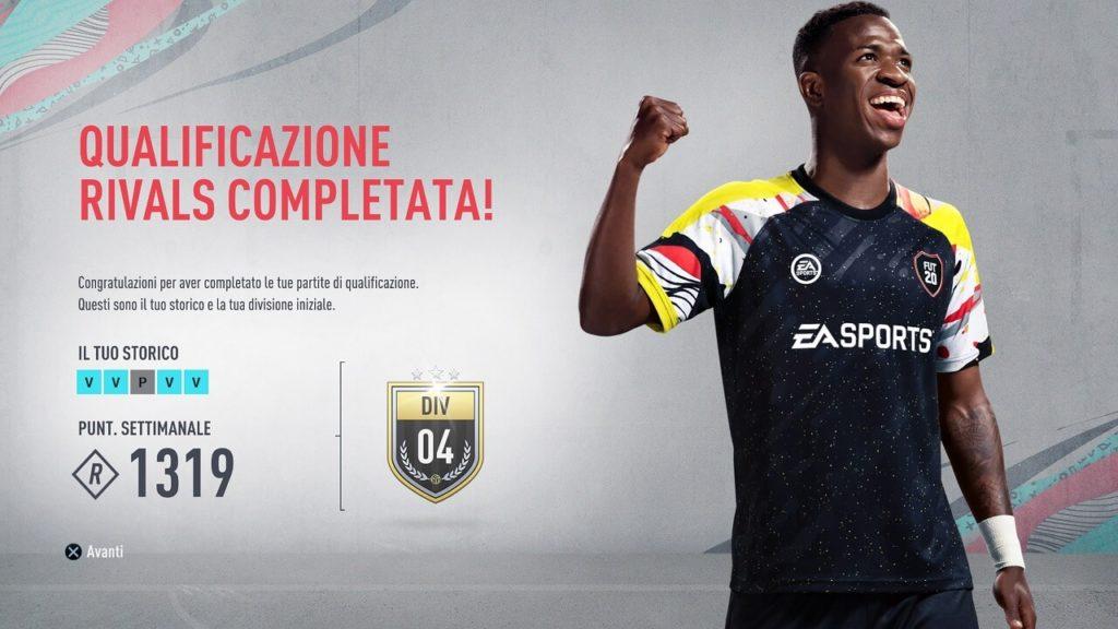 FIFA 20: qualificazione in FUT Rivals