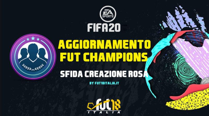 FIFA 20: SBC aggiornamento FUT Champions