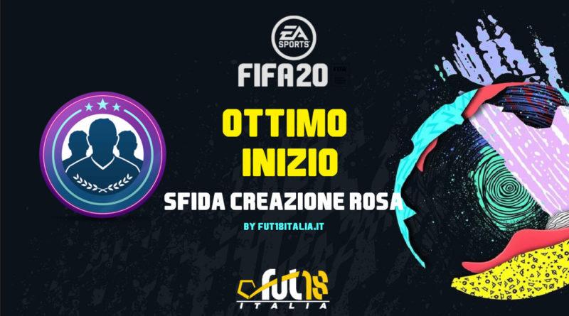 FIFA 20 - sfida creazione rosa ottimo inizio