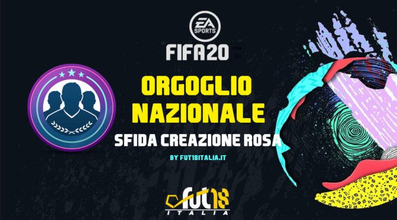 FIFA 20 - SCR orgoglio nazionale: requisiti, premi e soluzioni