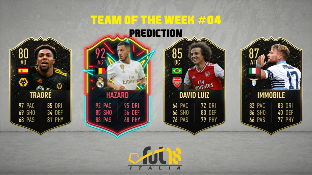FIFA 20 - TOTW 4 prediction