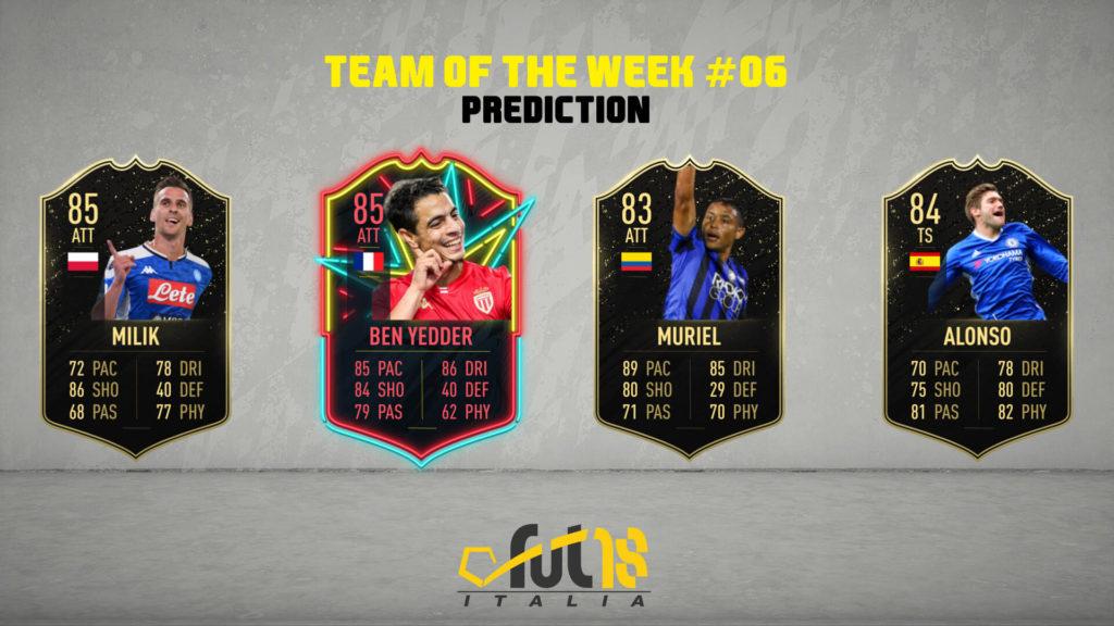 FIFA 20 TOTW 6 prediction