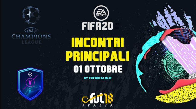 FIFA 20 - SCR incontri principali UEFA del 1 ottobre