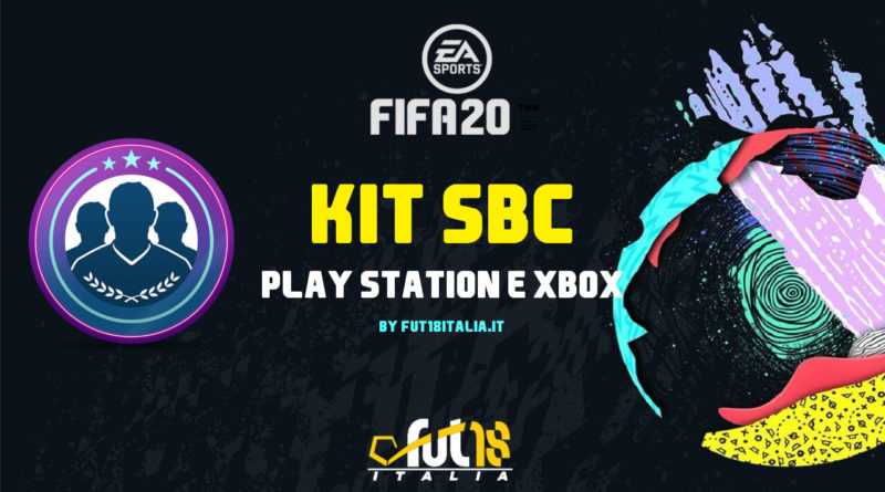 FIFA 20 - SBC kit PlayStation e XBOX