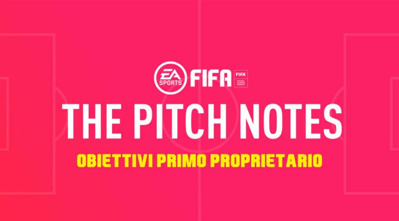 FIFA 20: obiettivi settimanali card primo proprietario