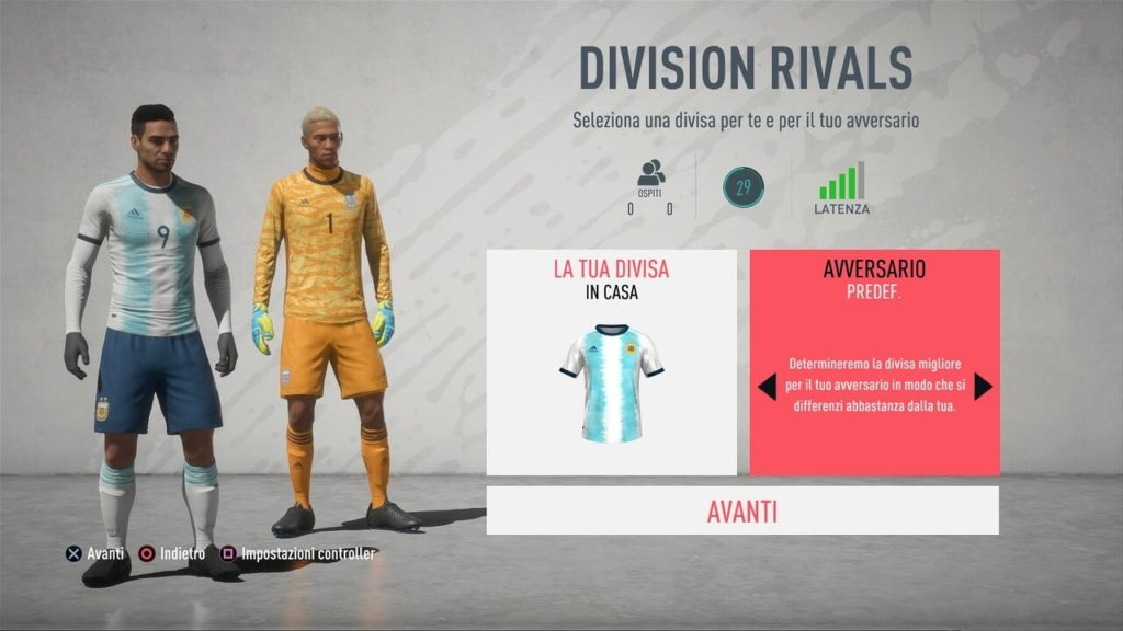 FUT 20: matchmaking in Division Rivals