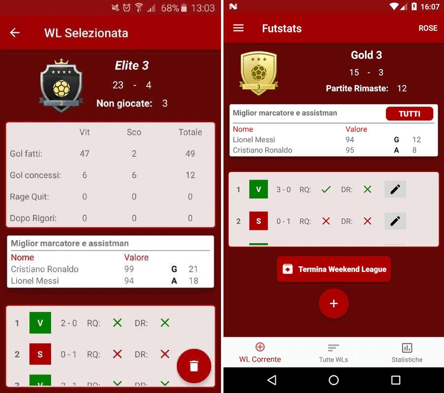 Futpy App free: Weekend League tracker
