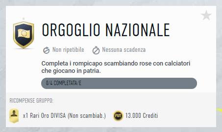FIFA 20: sfida creazione rosa orgoglio nazionale