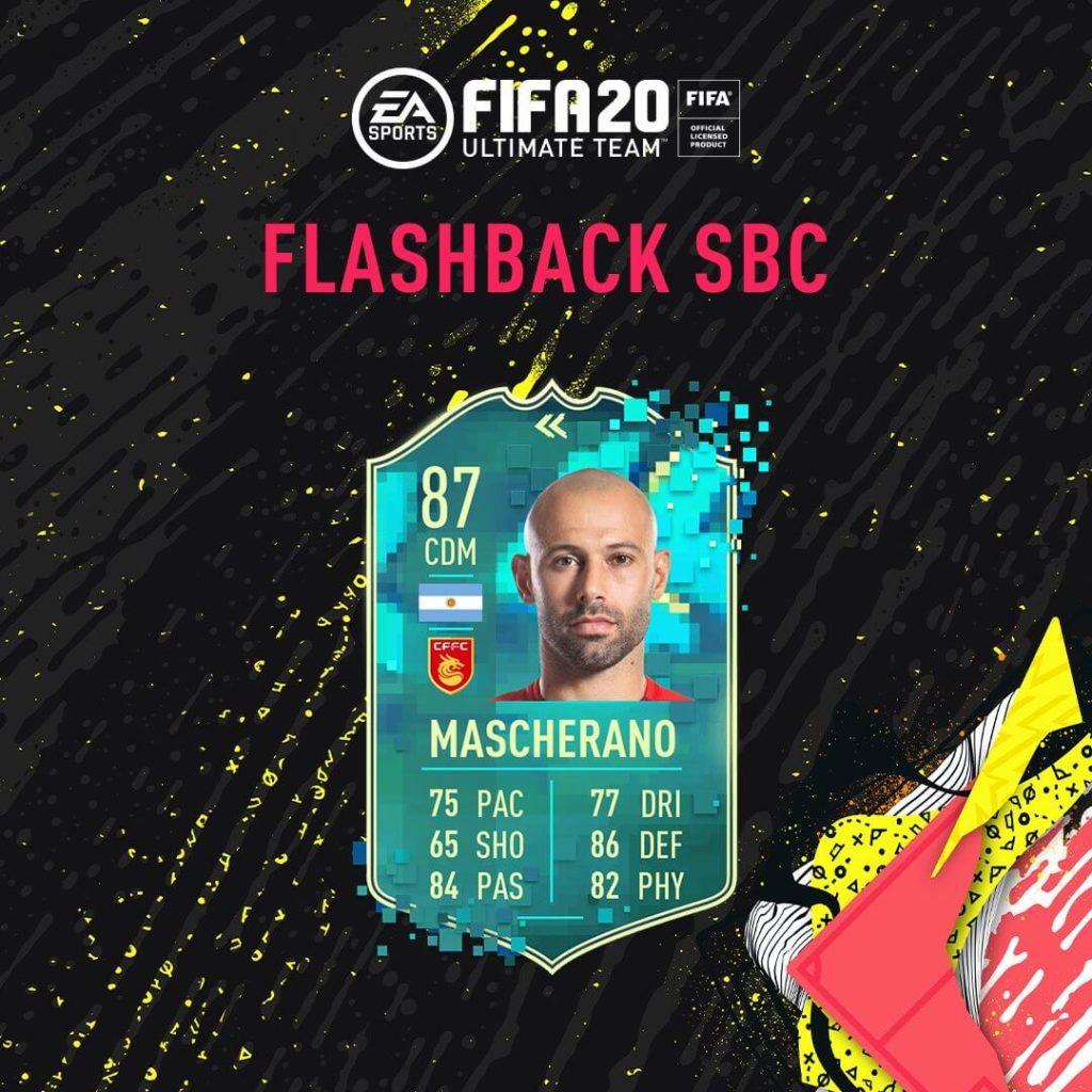 FIFA 20: Mascherano flashback SBC