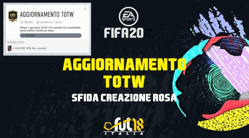 FIFA 20: SCR aggiornamento TOTW