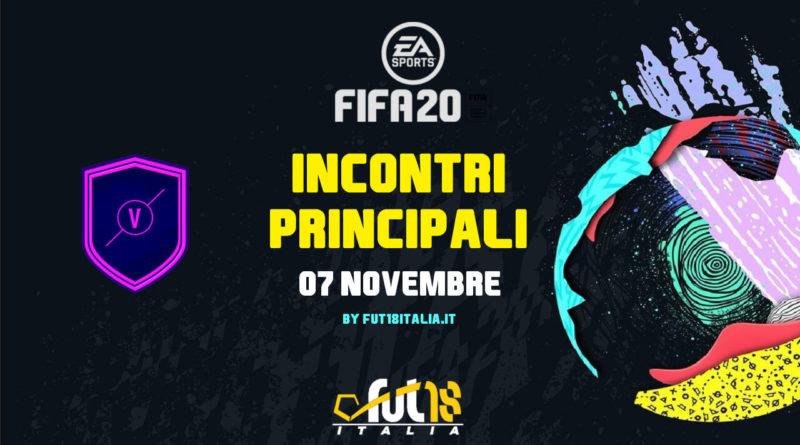 FIFA 20: SCR incontri principali del 07 novembre