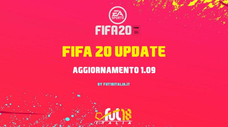 FIFA 20: aggiornamento 1.09
