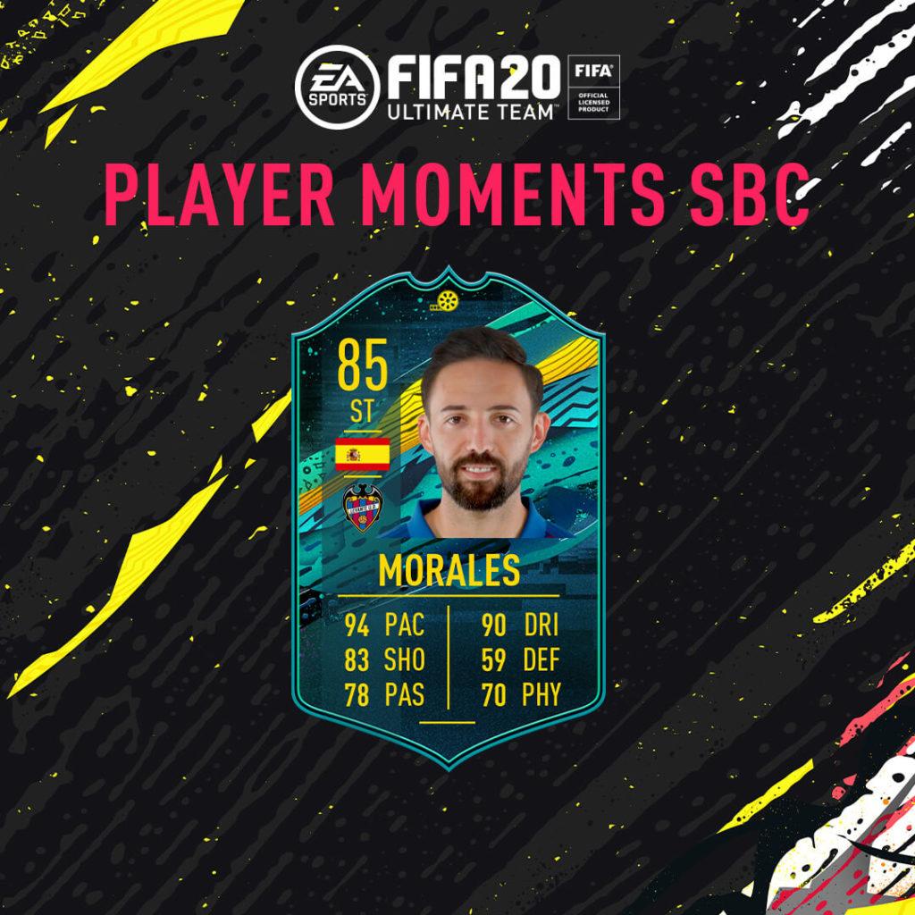 FIFA 20: Morales momenti speciali SBC