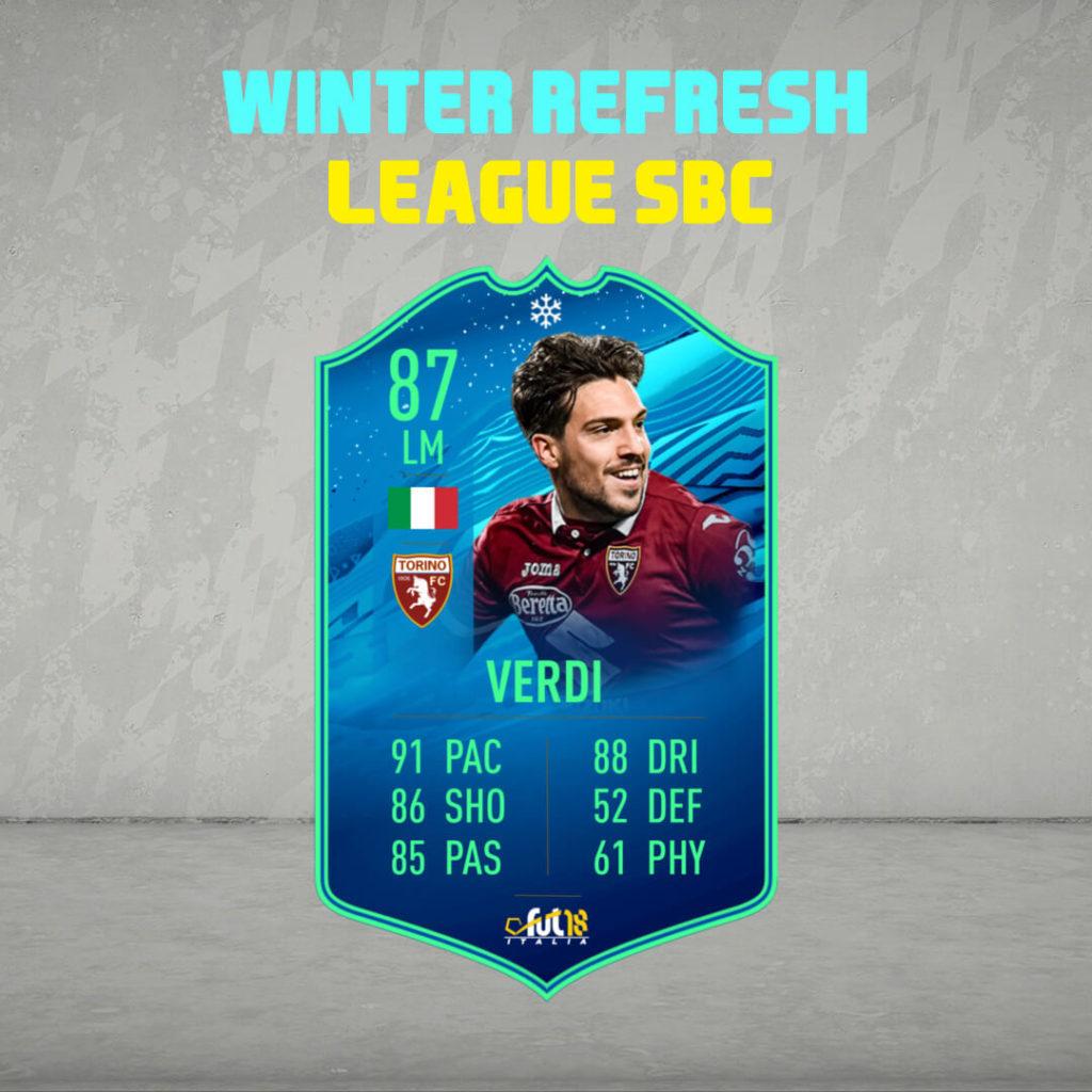 FIFA 20: Verdi Winter Refresh League SBC