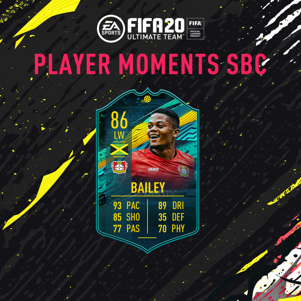 FIFA 20: Bailey 86 player moments