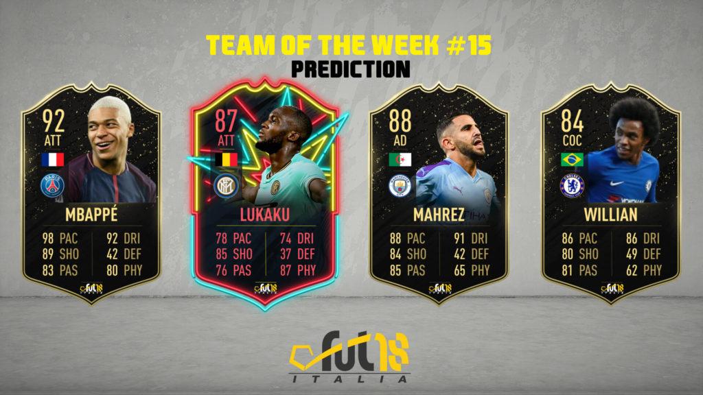 FIFA 20: TOTW 15 prediction