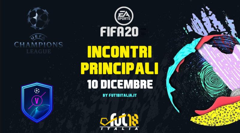 FIFA 20: SCR incontri principali del 10 dicembre