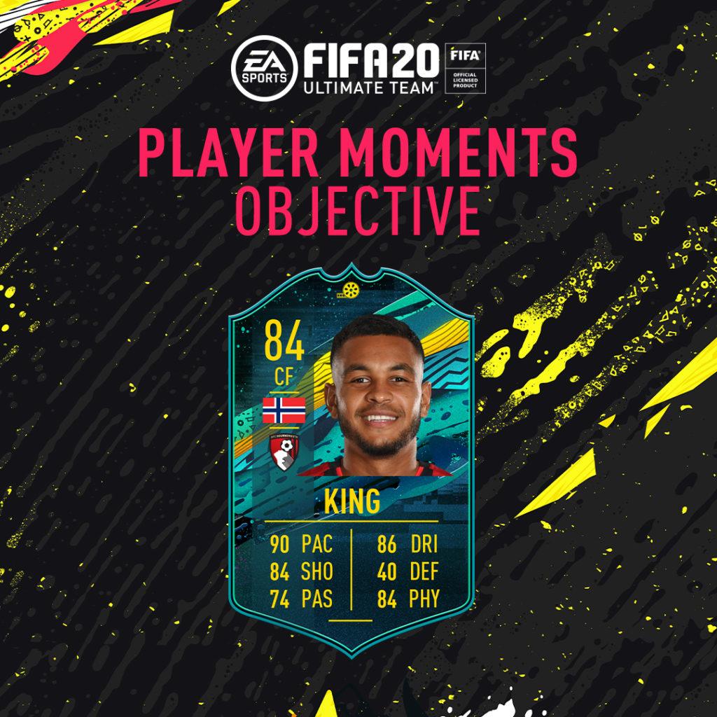 FIFA 20: King player moments - obiettivi settimanali