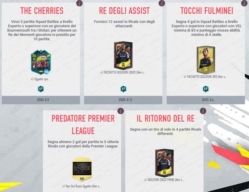 FIFA 20: Obiettivi settimanali per ottenere King momenti speciali