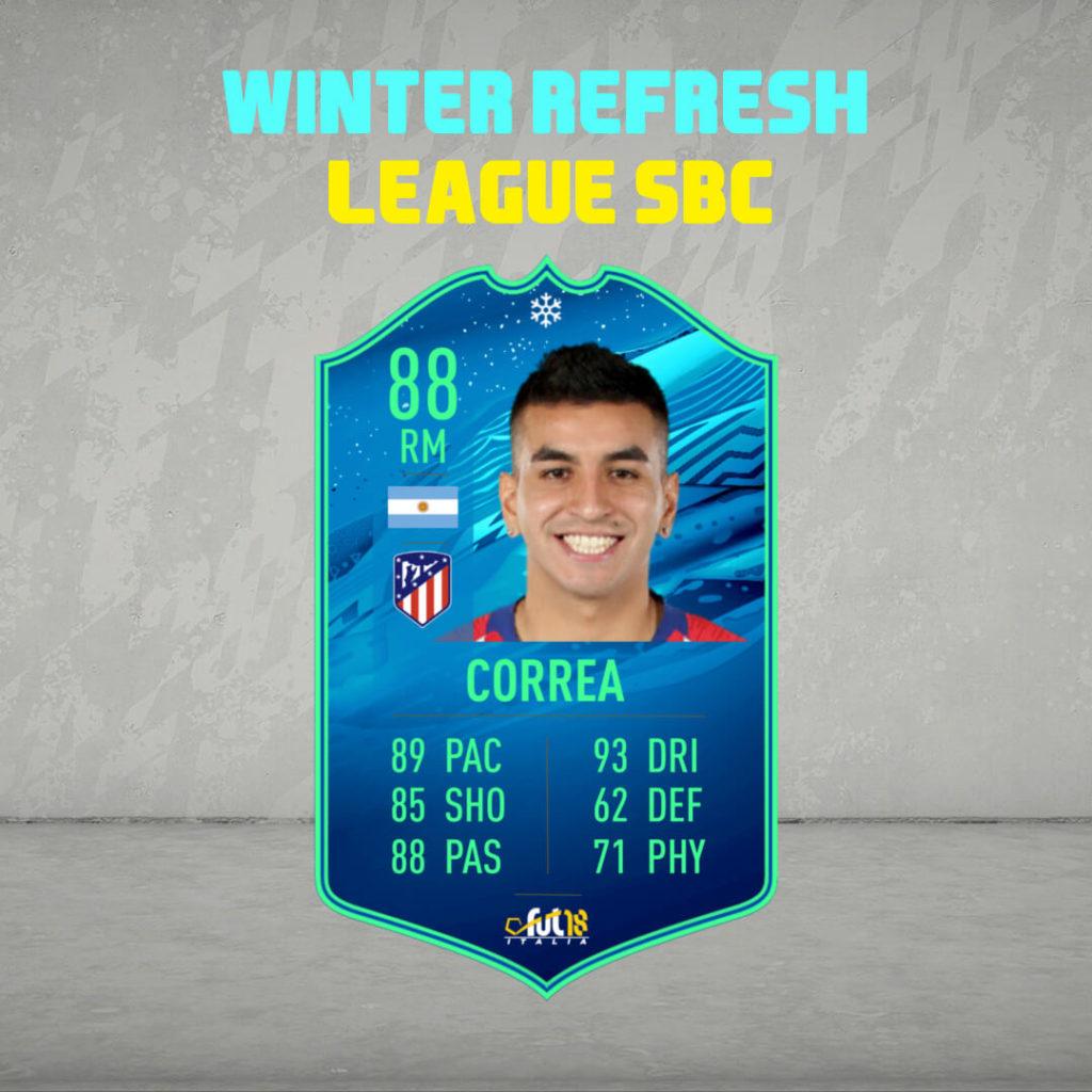 FIFA 20: Correa Winter Refresh League SBC