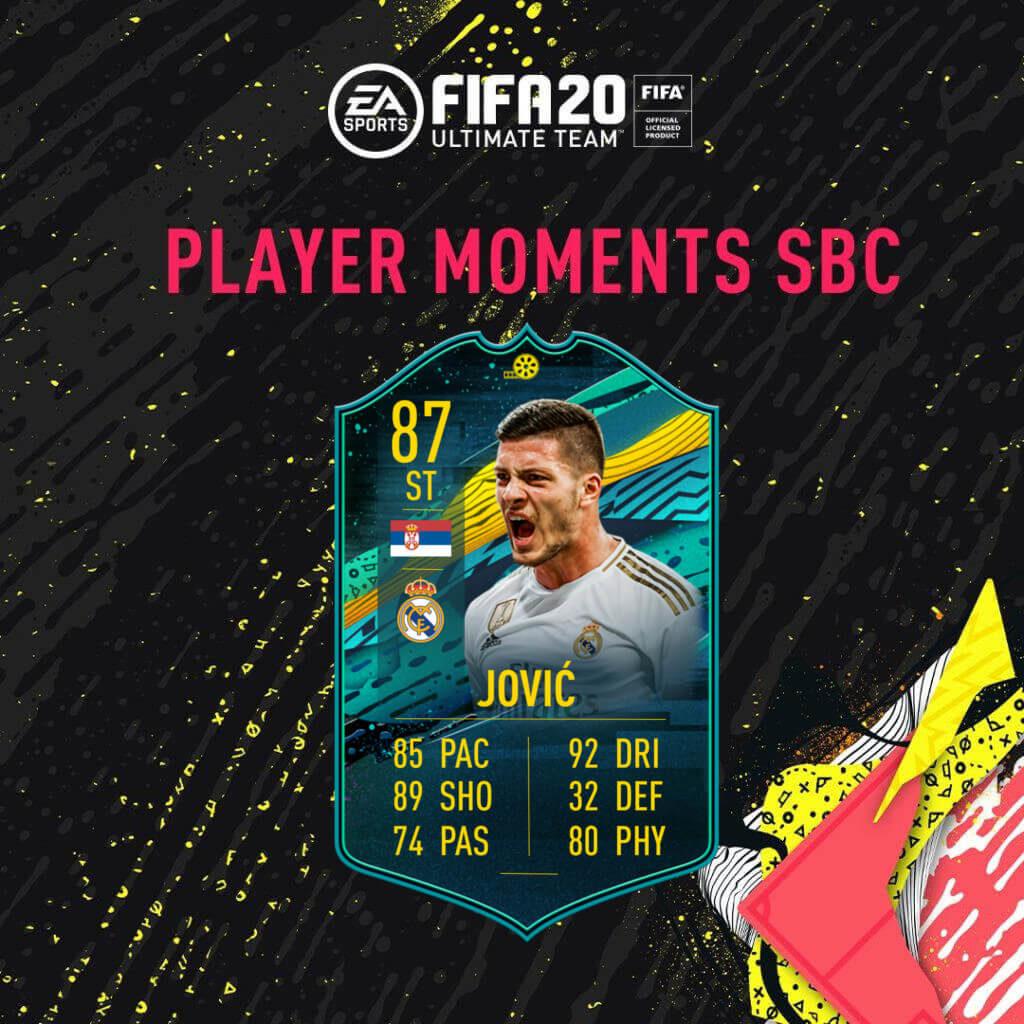 FIFA 20: Jovic player moments SBC