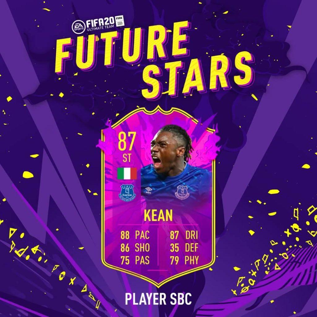 FIFA 20: Kean Future Stars SBC