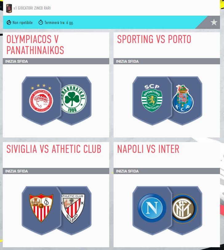 FIFA 20: SCR incontri principali del 2 gennaio